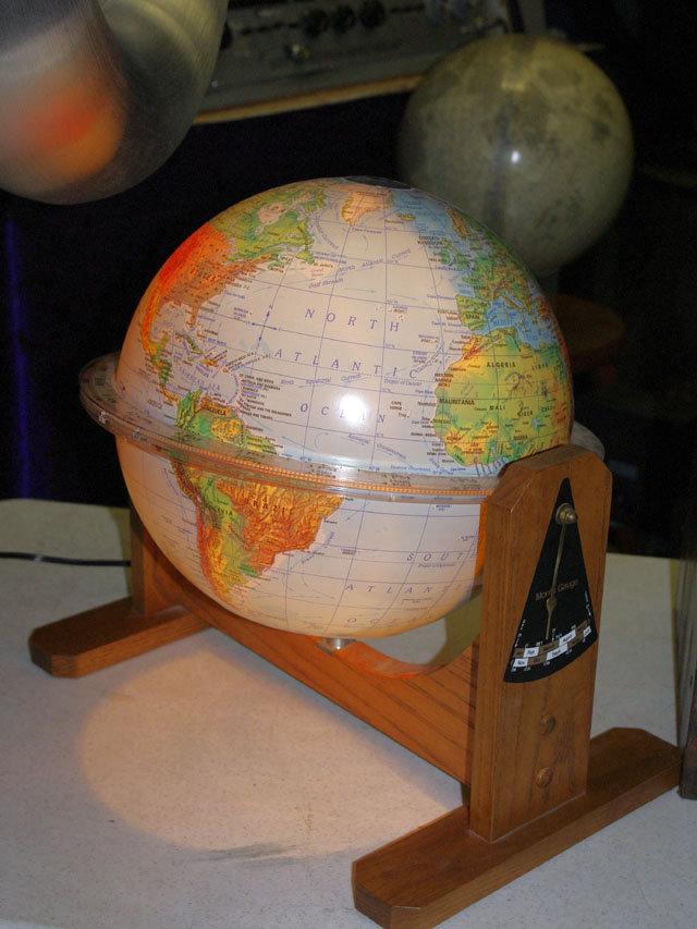 Sunlit World Globe